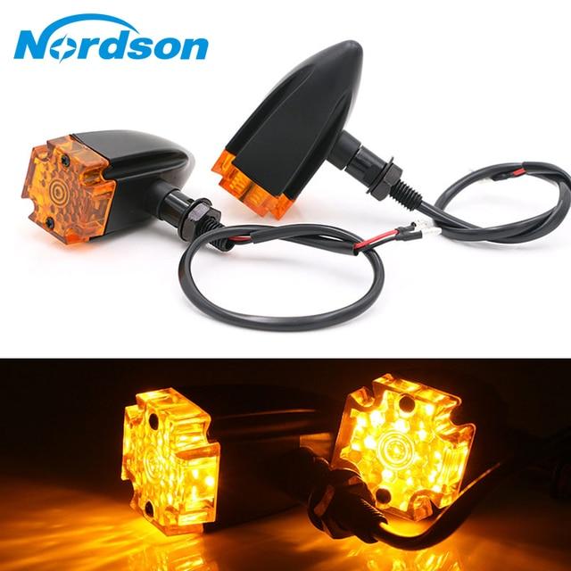 US $40.27 |Nordson Motorcycle LED Maltese Cross Turn Signal Indicator on