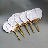 30 pcs/lot wedding White Paddle Fan for wedding decoration