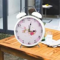 Silent Scan 9 Inch Large Alarm Clocks 2019 New Arrivals Desktop Alarm Clock Classic Metal Retro Quartz Home Desk Table Watch