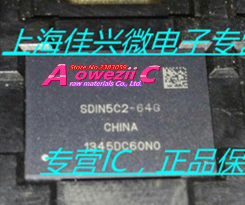 Aoweziic (1PCS) (2PCS) (5PCS) (10PCS) 100% New original  SDIN5C2-64G  BGA  Memory chip 2 pcs 15mmx13mmx1000mm 100