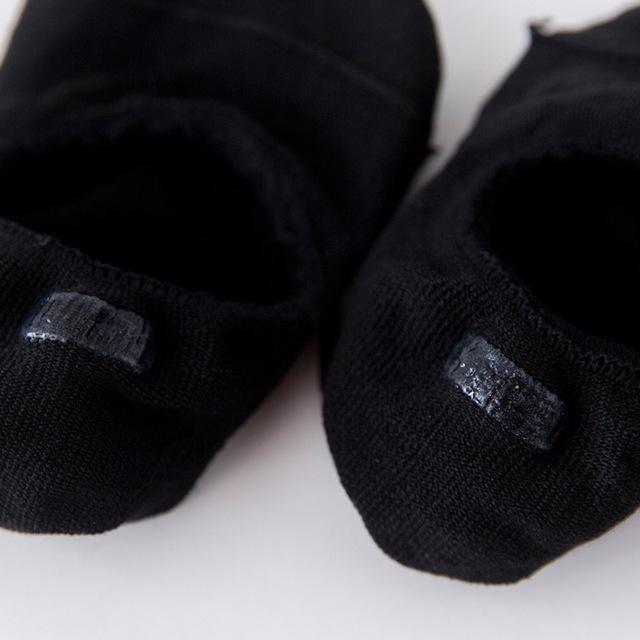 Calcetines bajos antideslizantes de algodón para mujer