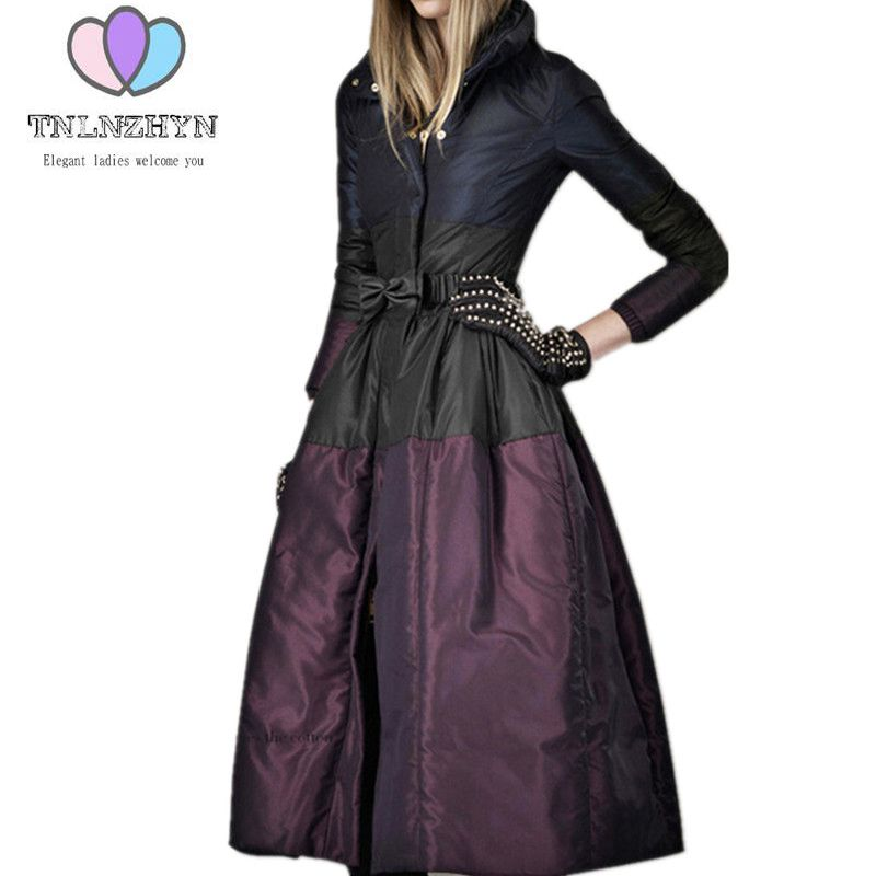 2019 New Fashion High-end Womens Winter Jacket Coats Plus size Warm Down Jacket Thicken Long Cotton Costume Ms Outerwear   parka