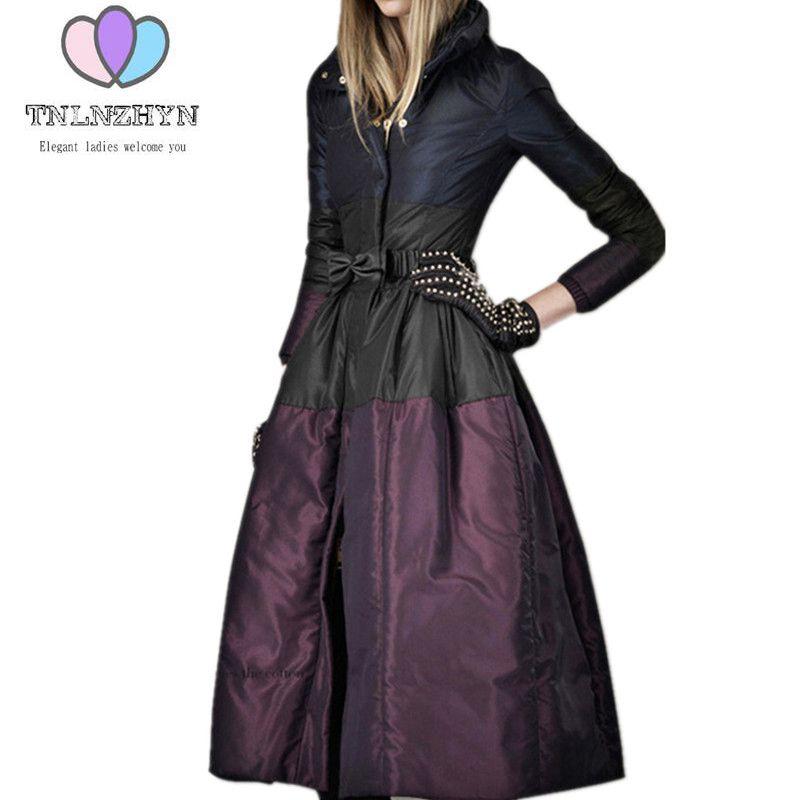 2019 Nova Moda High-end Das Mulheres Casacos Jaqueta de Inverno Plus Size Quente Down Jacket Engrossar Longo Traje de Algodão Ms outerwear parka