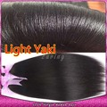 Luz brasileira Yaki cabelo humano tece Yaki cabelo virgem reta de seda extensão 3 pacotes de relaxado para americanos