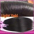 Yaki ligero brasileño del pelo humano teje suave sedoso Yaki extensión virginal recta 3 Bundles Soft relajado para mujeres