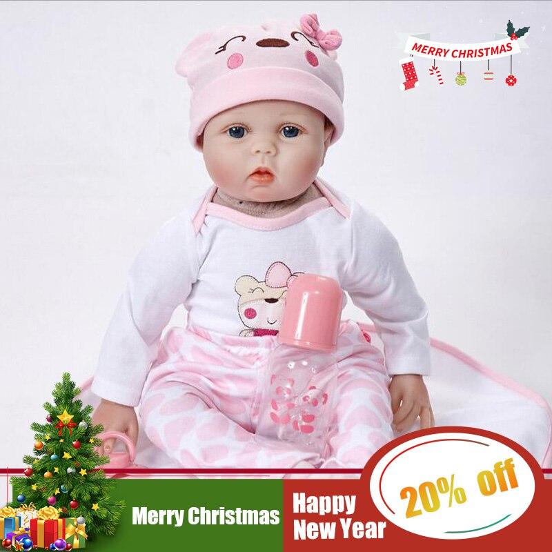 Реалистичная Принцесса Девочка Кукла реборн 22 дюймов Реалистичная силиконовая настоящая сенсорная новорожденная детская игрушка с одеждо...