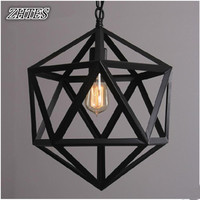 Loft Industrial Retro Iron Chandelier Cafe Bar Diamond Lamps
