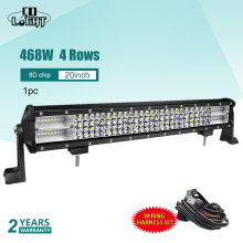 CO LIGHT 20Inch Led Light Bar 468W Off Road Work Light 8D Spot Flood Led Lights