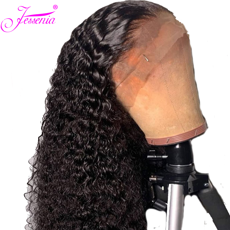 Curly Human Hair Wigs Malaysia Remy Hair 13*4 Lace Front Human Hair Wigs Thick Ends With Baby Hair Bleached Knots