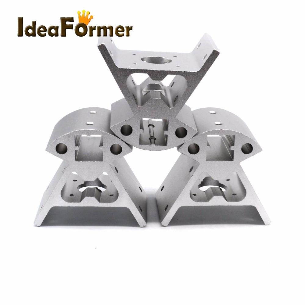 Image 5 - 1 set Corners 3D printer parts  Frame Reprap All metal Delta 3  small Top 3 big bottom 2020 Aluminum profile Vertex Kossel3D Printer  Parts