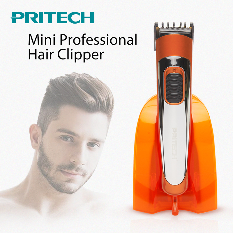 PRITECH Portable Electric Hair Clipper Professional Mini Hair Trimmer Cutting Machine Beard Barber Razor For Men Style Tools