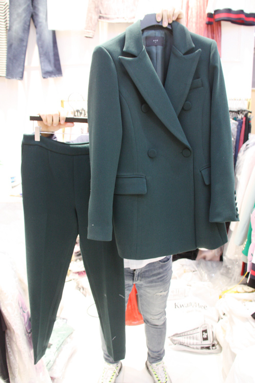 Printemps Version 2 Nouvelle Petit Femmes 4 1 La Ensembles Solide Deux Veston Pantalons Costume Tailleur Femme De Couleur 3 Coréenne Qualité Supérieure Léger Tissu S1fwxnS