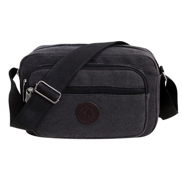 Men's Fashion Travel Cool Canvas Bag Men Messenger Crossbody Bags Bolsa Feminina Shoulder Bags Casual Portable Pack