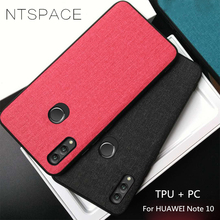 NTSPACE For Huawei Honor Note 10 8X 9N Case Soft TPU Silicone Business Cloth Back Cover Nova 3i P Smart Plus