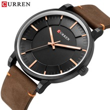 CURREN Simple Fashion Analog Quartz Mens Watches  Casual Business Leather Wristwatch Male Clock Classic Men's Watch erkek saati