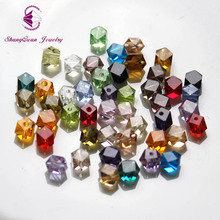Shangquan  multi color AAA 100pcs 4mm Unique Irregular Facet Cube Loose beads for jewelry making SQ3A1044