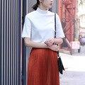 Yichaoyiliang 2017 New Yellow Turtleneck Short Sleeve T Shirt Women Summer Tops Tees Korean Style Casual White Shirt