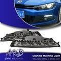 One-Stop Shopping para VW Scirocco LED DRL 2010-2013 Scirocco DRL Luz de Circulação Diurna luz de Nevoeiro Automotive acessórios