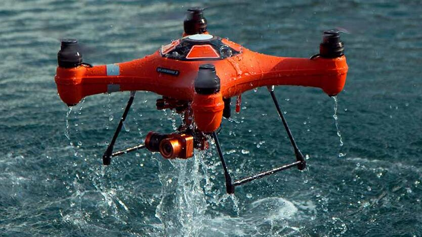 RTF Quadcopter Splash Drone 3 Waterproof with 4K Camera Gimbal and Monitor