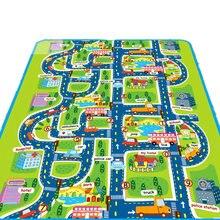 Детские ползучие коврики Экологичные влагостойкие городской тропинки шаблон игровой коврик для малышей YH-17