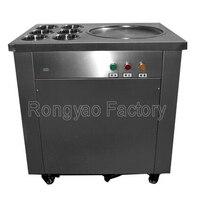 8 10 л/ч роликовая машина для мороженого 1 сковорода фритюрница прокатный жареный йогурт для жарки машина для одной сковороды с 6 охлаждаемой