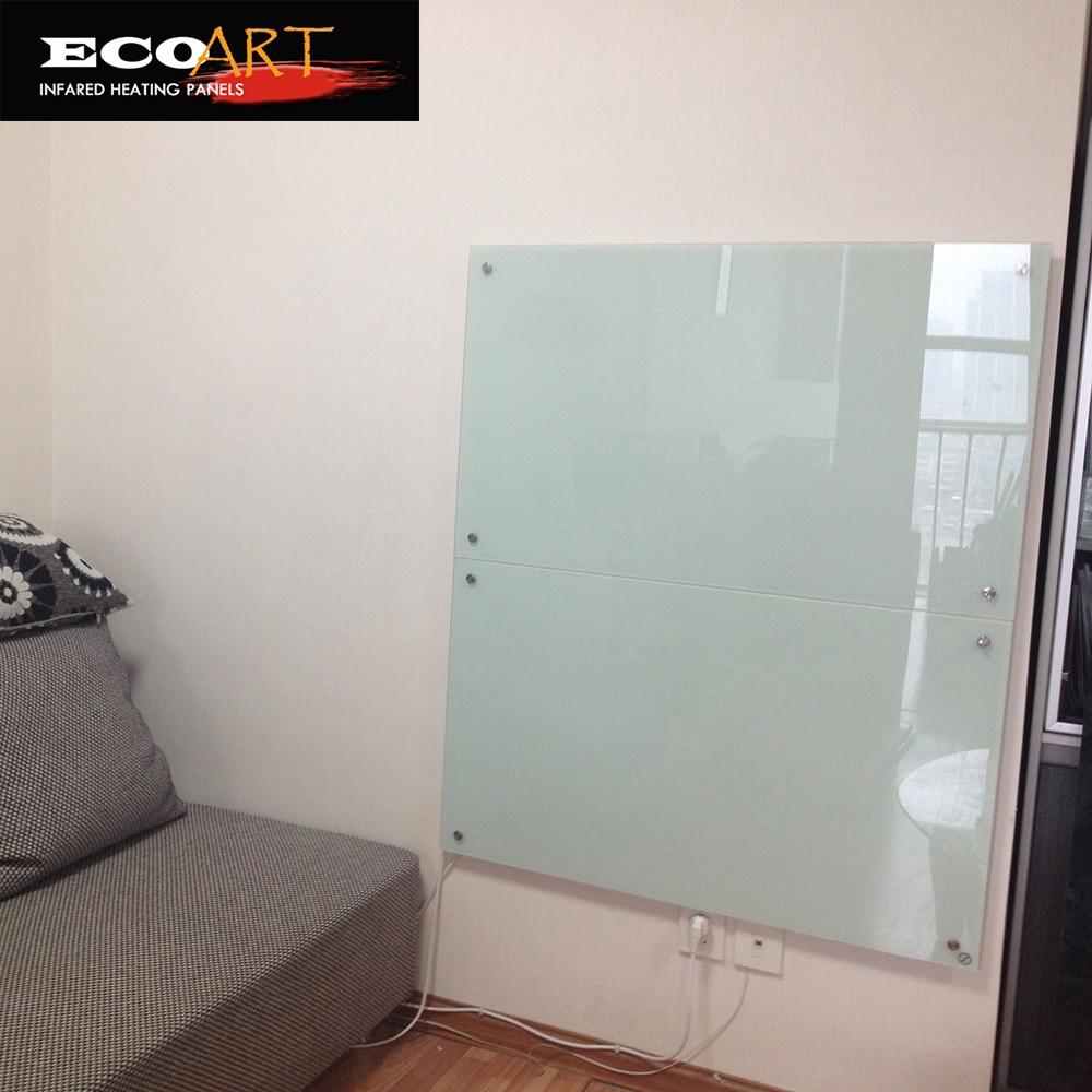 Eco Art White Glass Infrared Radiant Heating Panels GLASS