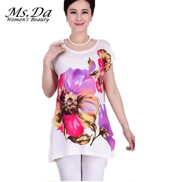 7f6e6ec4d2 2016 new vintage blouse blusa feminina summer print irregular women shirts  top kimono camisa tunic plus