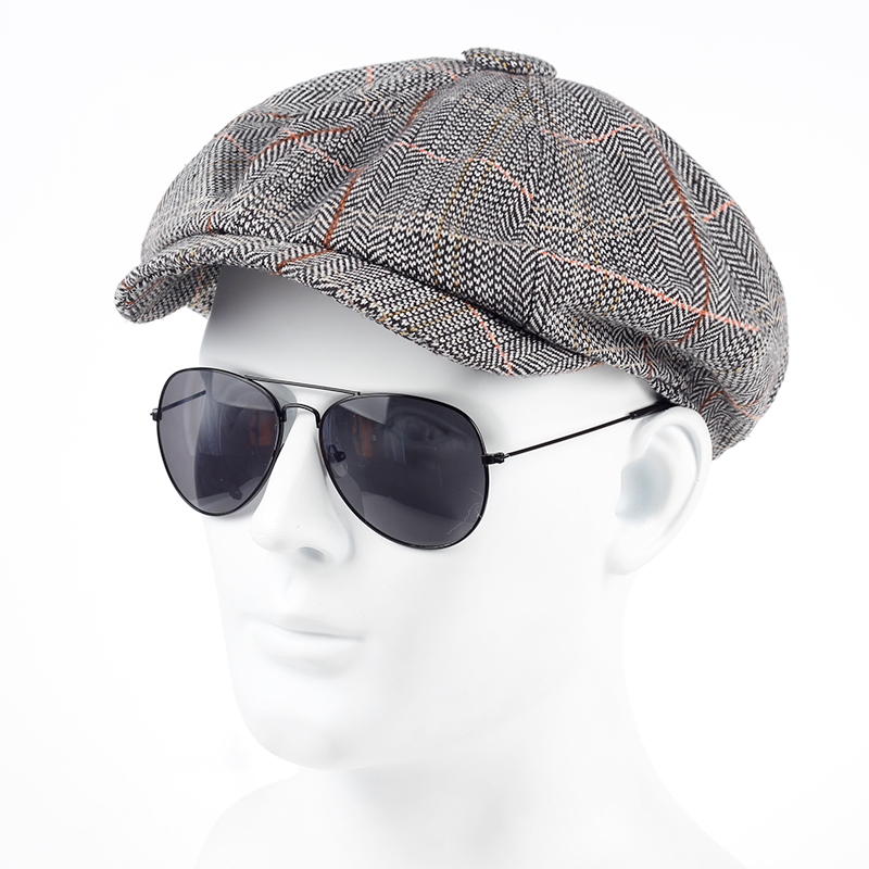 TUNICA 2017 NEW Fashion octagonal hat news actor hat autumn winter men's international superstar Jason Statham male model