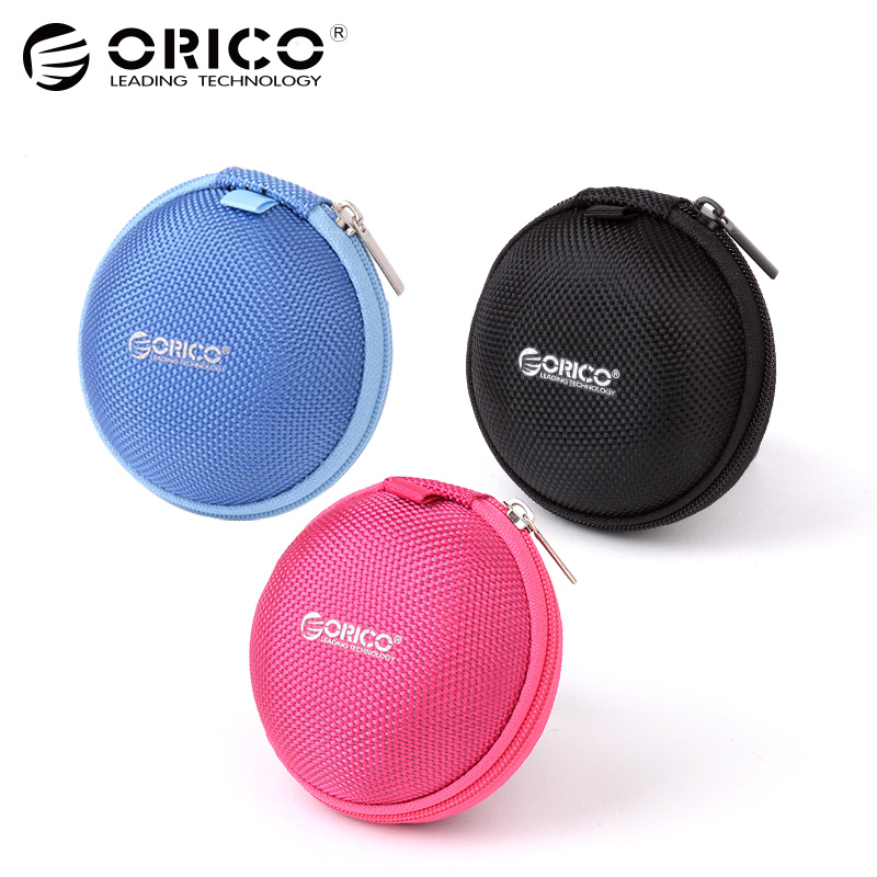 ORICO Hot Headphone Case Bag Portable Earphone Earbuds External Protect headset U-disk Storage for Memory Card Mini Earphone Bag цена