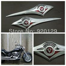 Motorcycle Chrome Plastic Gas Tank Emblem Badge Decal for Kawasaki Vulcan VN 2000 Classic