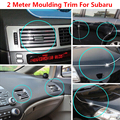 1Pc 200CM Silver Car Grilles Door Edge Air Condition Vent Decoration Strip Molding Trim For Forester Impreza Legacy Outback XV