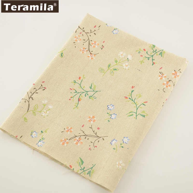 TERAMILA Naaien Materiaal Tissu Tafelkleed Kussen Tas Gordijn Kussen Katoen Linnen Stof Kussen Zakka Home Textiel Print Bloemen