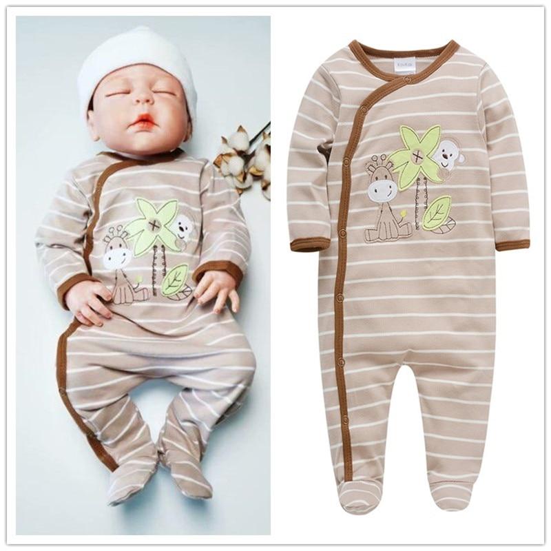 Brands 2018 Baby Pajamas Mayo Ropa Bebe Baby Clothing Sleeper Pyjamas Cotton Newborn 0 3 6 9 12 Months Baby Jumpsuits Onesies