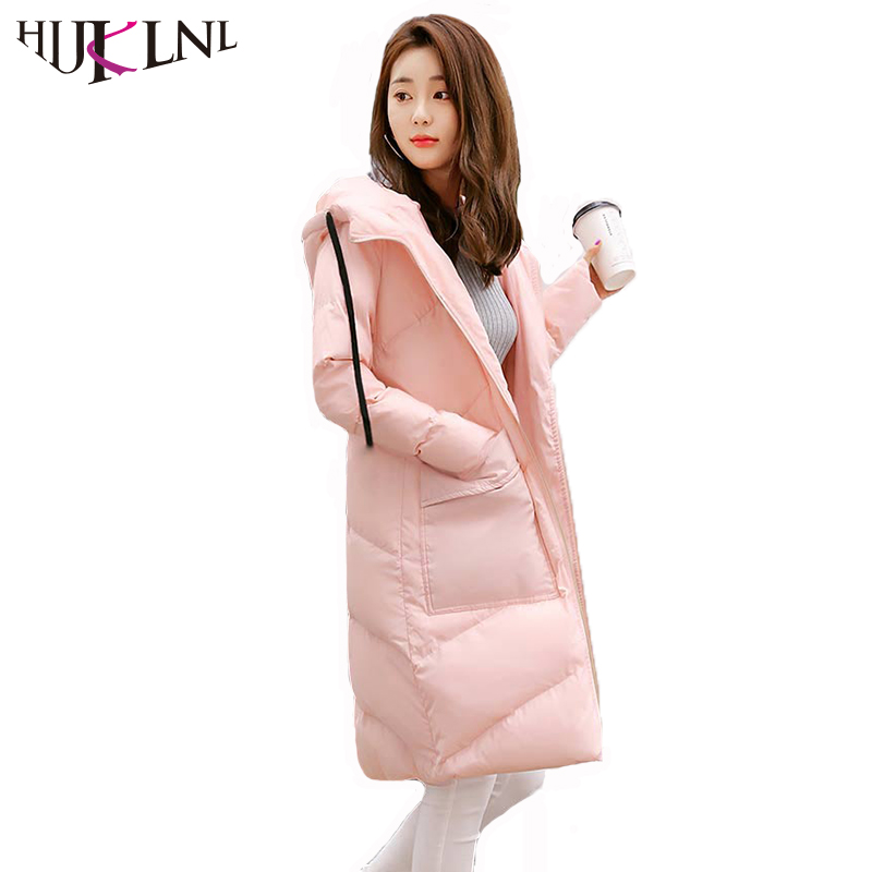 HIJKLNL Women Winter Coats and Jackets 2017 High Quality Loose Hooded Long Jackets Outwear Padded Cotton Parka Mujer NA410