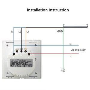 Image 5 - Ue interruptor de cortina wi fi inteligente interruptores alexa google casa voz tuya vida inteligente controle app com azul retroiluminado opcional