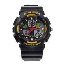 Ak1055 semejantes 50 M tiempo Dual Impermeable Para Hombre de Cuarzo Digital de Los Deportes Reloj de Pulsera de Lujo Reloj de Cuarzo Analógico Led Digital