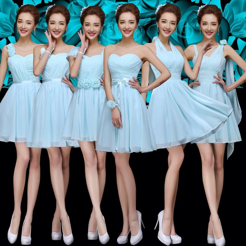 Blue Green Dresses Bridesmaid - Ocodea.com