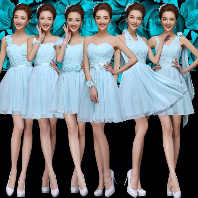 Grecian Bridesmaids Dresses Light Turquoise