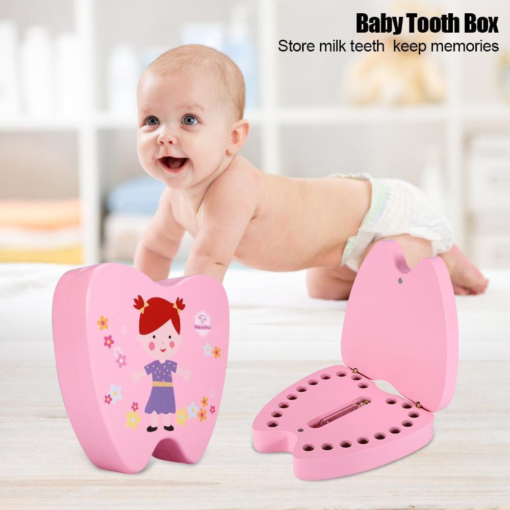 New Baby Tooth Box Wooden Children Milk Teeth Hair Collection Organizer Souvenir Box For Boy Girl Save Teeth Save Souvenir Case