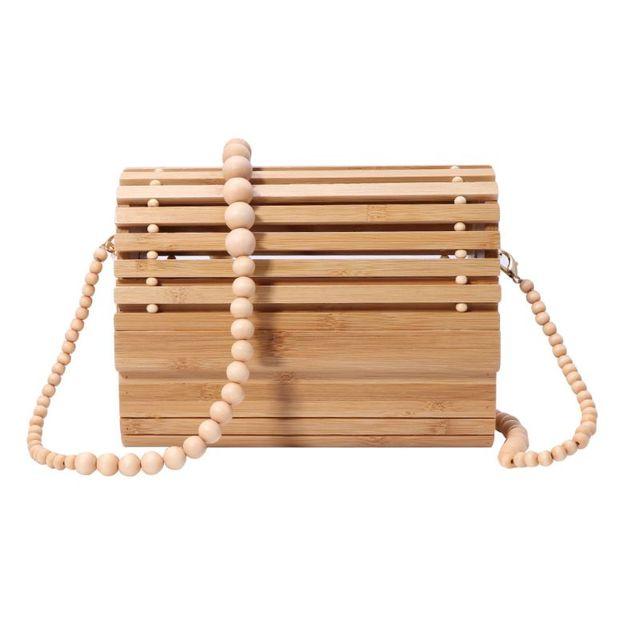 Women Bamboo Handbag...