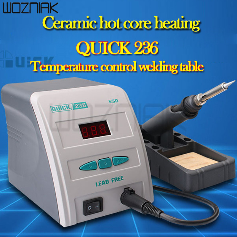 Original QUICK 236 ESD 90W 220V High-Frequency Soldering Station Lead - Free Digital Soldering Iron цена