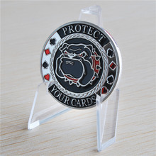 PROTECT YOUR CARDS Coin Silver plated Poker, Souvenir Coins free shipping