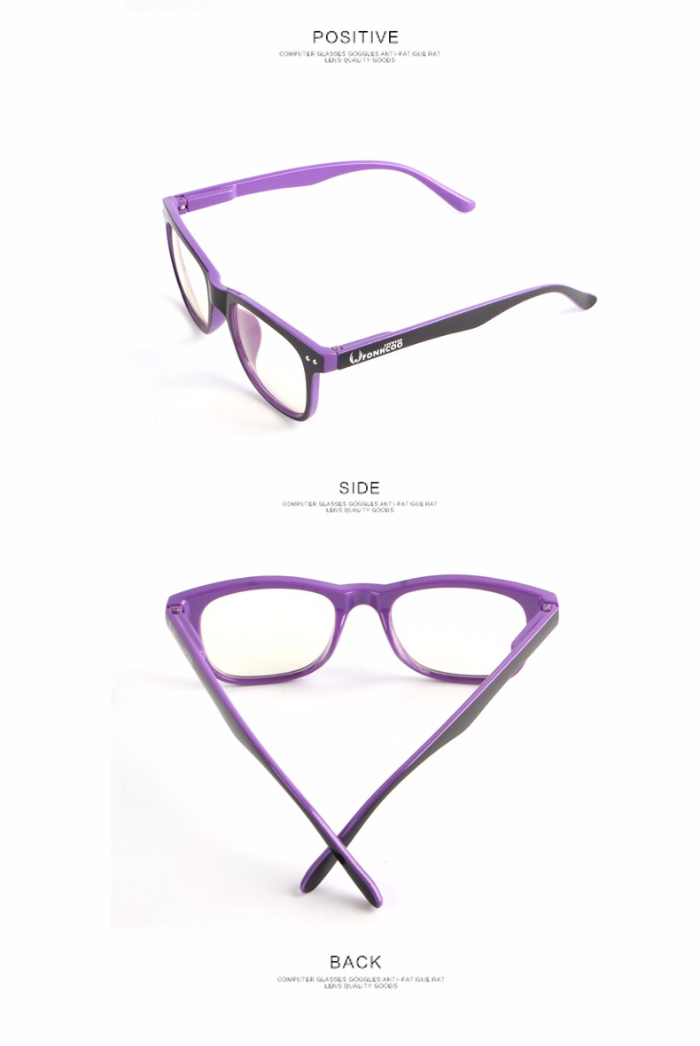 2019 FONHCOO Fashion Anti Blue ray Radiation blue light blocking glasses Square Anti eye fatigue Computer gaming goggles
