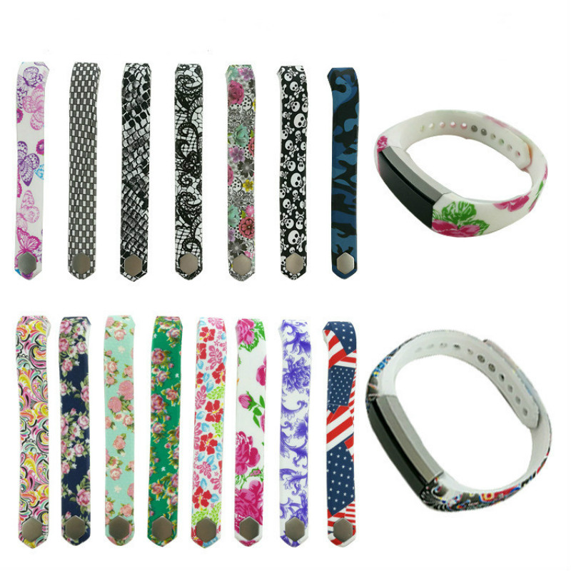 NEW Roses color Silicone Watchband High Quality Replacement Wrist Band Silicon Strap Clasp For Fitbit Alta