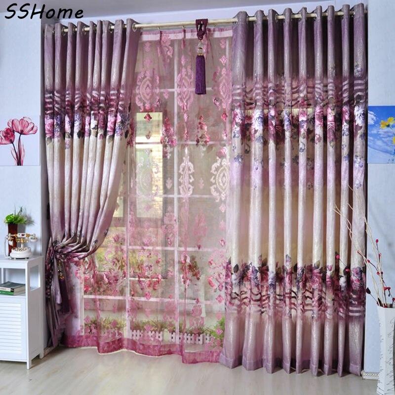 Quality flower curtain shalian rustic pink flower patterns quality flower curtain shalian rustic pink flower patterns dodechedron floweryness graphic cut flower curtains tulle mightylinksfo