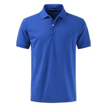 цена top quality summer Men's t shirt Fashion lapel men tshirt business Golf shirt casual teen Male T-shirt tees  blue онлайн в 2017 году