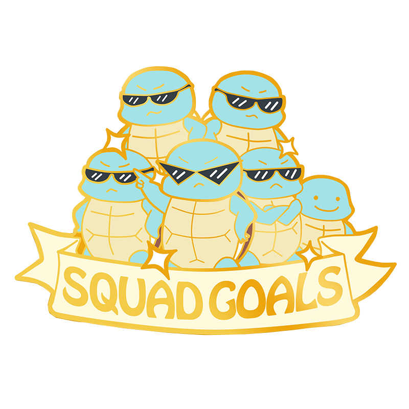 Pokemon Squritle Squad Goals Enamel Pin