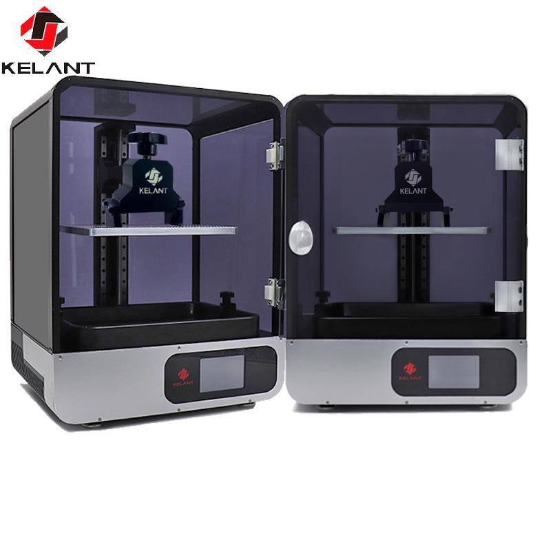 Kelant s400s lcd dlp 3d impressoras 8.9 polegada 2 k laser impressora 3d fóton resina uv sla luz-cura 192*120*200mm impresora kit diy