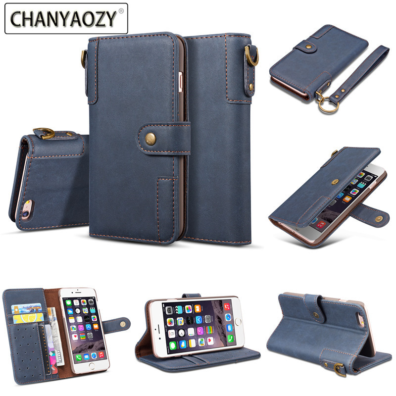 Leather wallet phone case for iphone 5 5S SE 6 6S 7 8 plus X XS