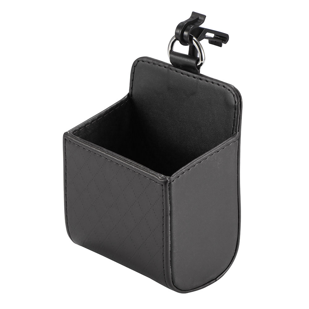 Car Outlet Vent Seat Back Tidy Storage Box Coin Bag Case Pocket Organizer Hanging Holder Pouch PU Leather Automobile Accessories(China)